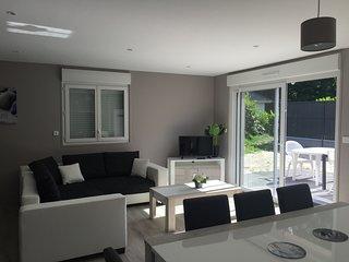 Maison Merlimont PLAGE +SPA+ JARDIN + GARAGE - 6 à 8 personnes dans les Dunes- V, Merlimont-Plage