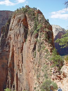 This is a view of the chains area of Angels Landing, a favorite hike