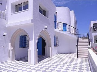 House with 3 rooms in Djerba Midoun, with wonderful sea view, terrace and WiFi - 800 m from the beach, Aghir