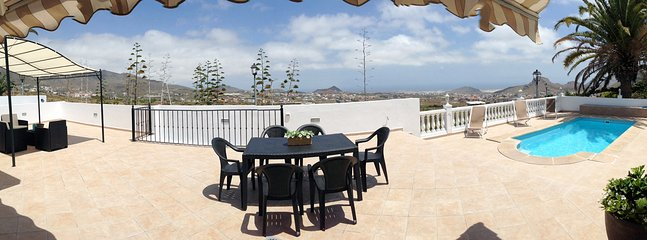 Panoramic picture taken from the front terrace. 180º ocean view.