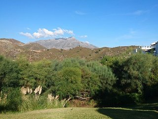 View of La Cocha Mountain from the sunbed