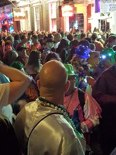 Live picture of ' Bourbon Street ' night life
