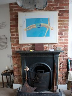 Over fireplace