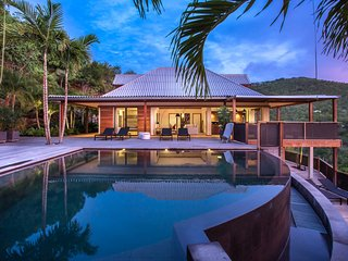 Villa Mahea 4 bedroom,superb home located at the hills of St Jean, St Barts
