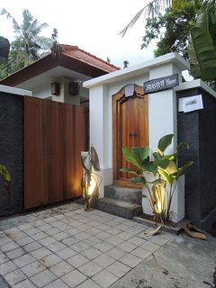 Balinese entrance door with slide wooden gate