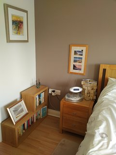 Master bedroom - double bed and fitted wardrobes.