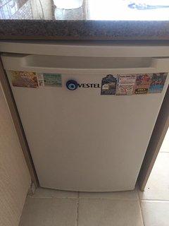 Fridge with freezer compartment