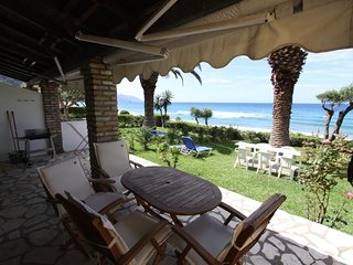 Beachfront house 49 in Glyfada sandy beach of Corfu
