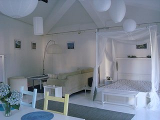 A great Spacious Studio with large garden and swimming pool, Sleeps upto 4