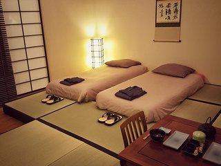 Chambre japonaise 'Ryokan' (studio) hyper centre, chateau, gare