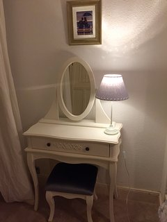Dressing table in downstairs double bedroom. Arts & crafts wardrobe too!