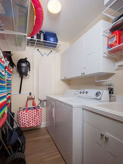 In-unit laundry room offers all the necessities to make your stay  enjoyable.