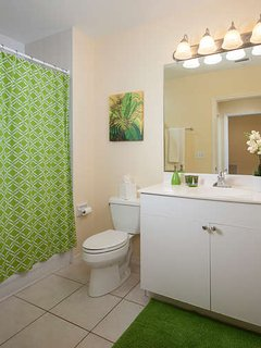 Spacious guest bathroom