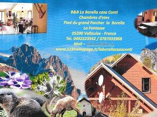 B&B La Borella Casa Conti 3 salle de bain Mitoyen, Vallouise