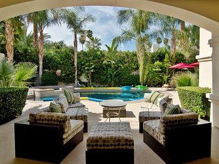 Outdoor Patio Seating Looking to Pool