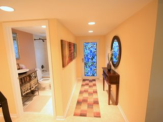 Private entrance and hall bath.