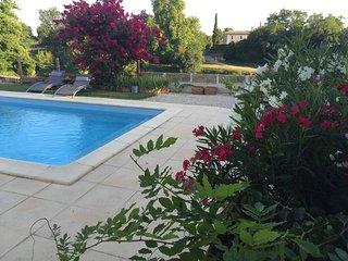 Gite au bord de l'eau piscine privee vue sur riviere Dordogne proche bergerac