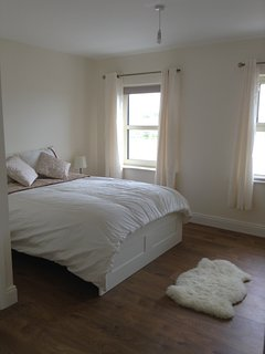 The king size bedroom ensuite downstairs