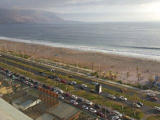 Arriendo Diario departamento full equipado con vista al mar a pasos del mall, Iquique