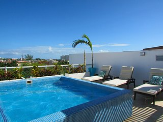 Luxury 3 bedroom Penthouse with private rooftop and plunge pool. Steps to 5th!
