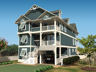 New Luxury Oceanfront Home w/ Beach Cabana, Nags Head
