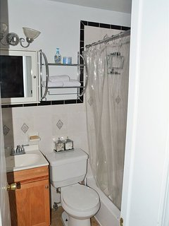 Full bathroom with tub + shower