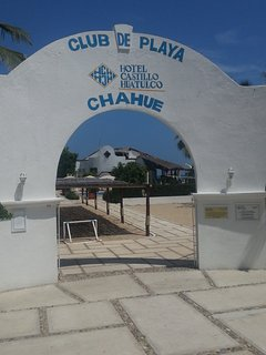 Entrance to the beach club.