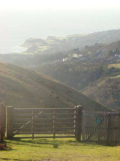 View towards Steephill, from Ventnor down, there are numerous stunning walks in the area.