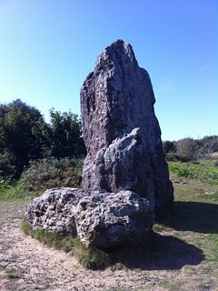 The Longstone near Brightstone Forest, one of many stunning walks on the Island.