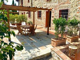 Appartamento in Agriturismo sulle colline del Chianti con Piscina