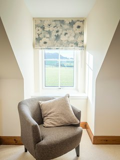 double bedroom  on upper floor  with views to Stirling Castle
