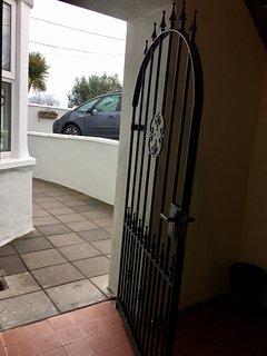 Gate to front door