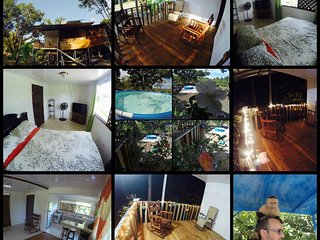 Cabin Close to the Beach W/ Typical Breakfast-WIFI Satellite TV, Quepos