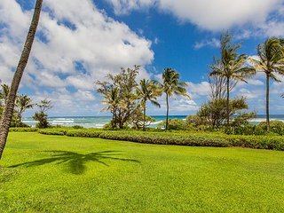 Kaha Lani Resort #125 Oceanfront, Steps to Beach, Enjoy Sunrise from Lanai, Lihue
