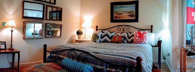 Guest Suite #2 has a King bed and bath en suite.