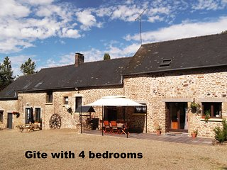 Farmhouse gite in rural Mayenne, France (4 bedrooms)
