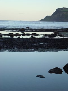 View to Ravenscar from the beach