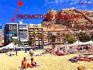 BEACH, CITY CENTER AND ENTERTAINMENT. AIR AC, WIFI, Alicante