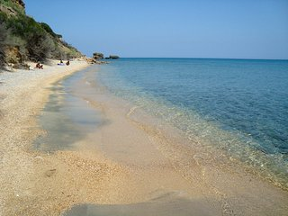 beach below