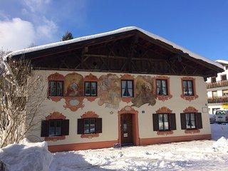 """""""Himmelblau""""-Ihr sonniges Apartment mit Bergblick, Oberammergau"""