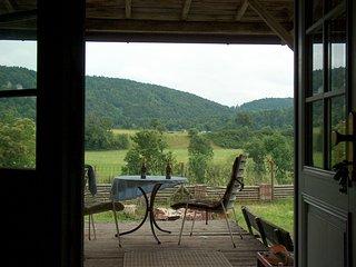 Traumhafte Aussicht von der Terrasse in den Naturpark Oberes Donautal