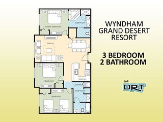 3Br Condo #1 Wyndham Grand Desert Near Strip, Las Vegas