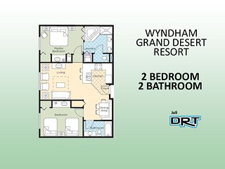 2Br Condo #2 Wyndham Grand Desert  Near Strip