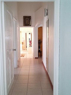 This second hallway is the intersection to the various rooms.