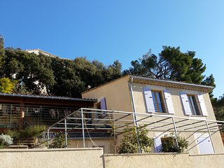 Beautiful small house on the hill with breathtaking view, terraces, garden