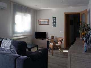 Sala de estar-comedor con acceso a la terraza.