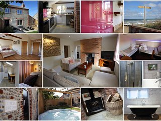 Norfolk Flint cottage, 2 mins from secluded beach!