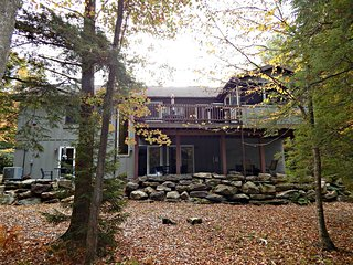 Lake Naomi Vacation Rental with Stream, Pocono Pines