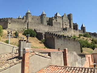 Monet magnificent views of  castle ramparts, Carcassonne