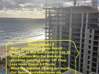 CONSTRUCTION RATES to Feb 28, 14-21st floor, Marriott Resort Spa-OwnerCondos, Singer Island